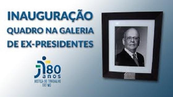 Foto desembargador Marcus Moura na galeria dos presidentes