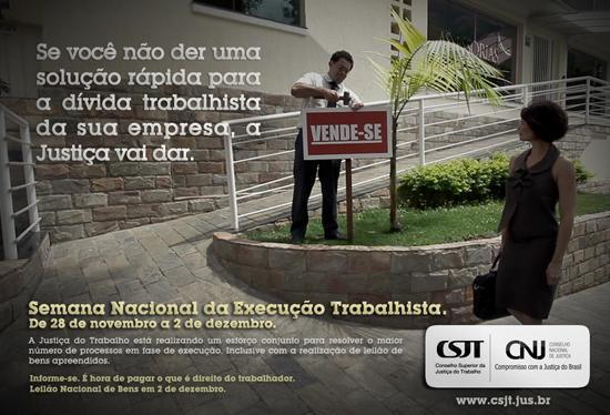CSJT lança página da Semana Nacional da Execução Trabalhista (imagem 1)