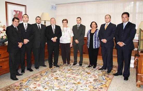 Nova diretoria da Amat visita TRT (imagem 1)