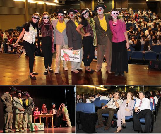 Alunos do Colégio Loyola assistem à apresentação teatral sobre conciliação (imagem 2)