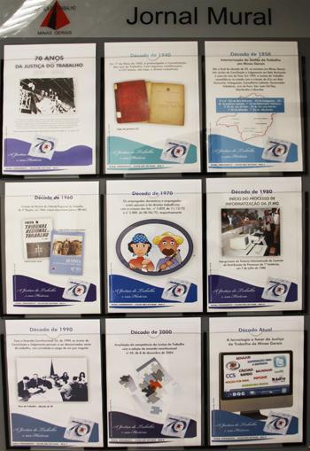Jornal mural permanente homenageia os 70 anos da JTMG (imagem 1)