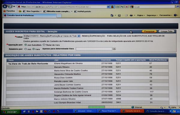 TRT promove remoção global por meio de sistema informatizado (imagem 1)
