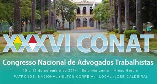 XXXVI Congresso Nacional de Advogados Trabalhistas ocorrerá em setembro (imagem 1)