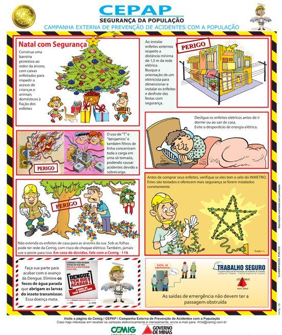 Cemig divulga cartaz com dicas para um Natal seguro (imagem 1)