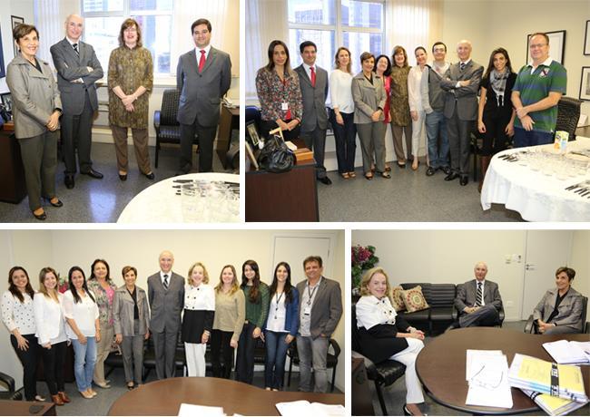 Corregedor-geral da Justiça do Trabalho visita gabinetes de desembargadores (imagem 1)