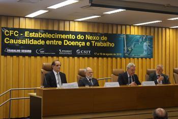 Nexo de causalidade entre doença e trabalho reúne, em Brasília, magistrados e especialistas em saúde pública (imagem 1)
