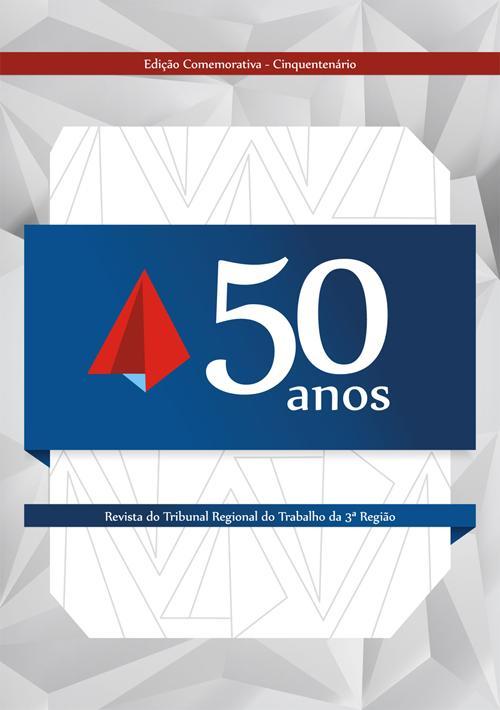 Escolhida capa da edição comemorativa do cinquentenário da Revista do TRT-MG (imagem 1)
