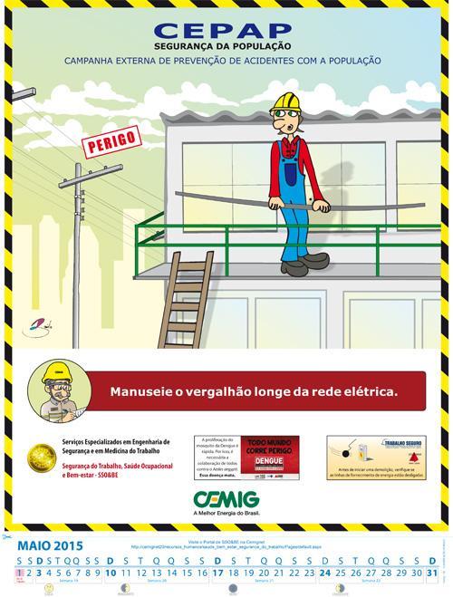 Calendário da Cemig traz dica de segurança no trabalho (imagem 1)
