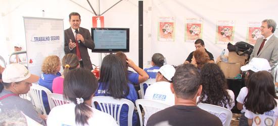 TRT presente na Ação Global combatendo trabalho infantil e acidentes de trabalho (imagem 1)