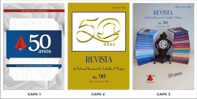 Aberta votação para escolha de capa comemorativa dos 50 anos da Revista do TRT-MG (imagem 1)