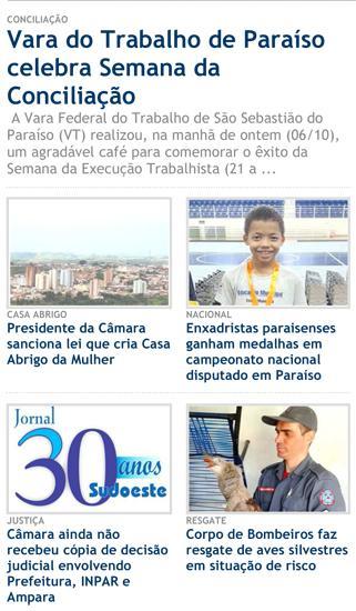 Sucesso da VT de São Sebastião do Paraíso na Execução é destaque na imprensa local (imagem 1)