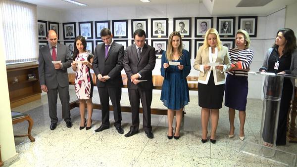 Presidente do TRT dá posse a seis juízes por permuta (imagem 1)
