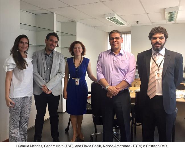 Representantes da gestão socioambiental do TSE e do TRT9 visitam o Tribunal (imagem 1)