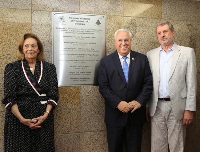Prédio do TRT recebe nome do desembargador José Waster Chaves (imagem 1)