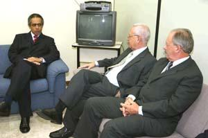 Raimundo Cândido Júnior, da OAB, Ministro José Luciano de Castilho Pereira e Juiz Tarcísio Alberto Giboski