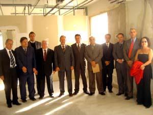 Presidente Tarcísio Giboski em visita às obras