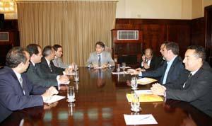 Prefeito de BH, Fernando Pimentel, reunido com diretores do TRT da 3ª Região