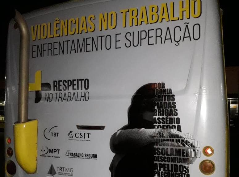 Programa Trabalho Seguro - TAC - Slogan em ônibus