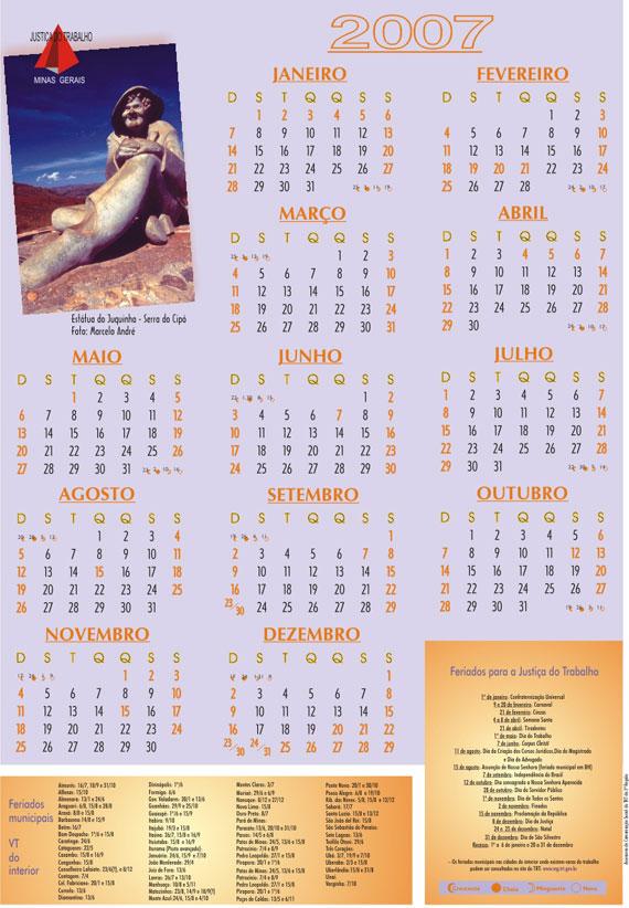 Calendário 2007