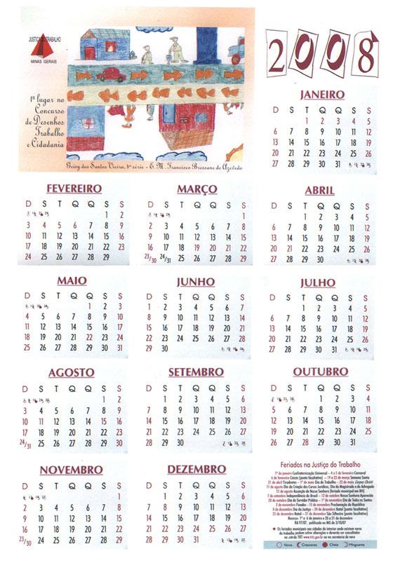 Calendario.Calendario 2008 Trt Mg